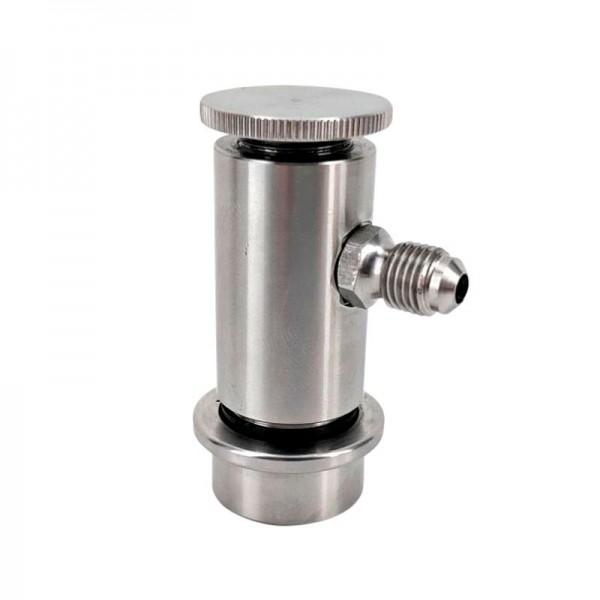 Ball-lock Steckkupplung NC Edelstahl mit Durchflussregelung für Getränke