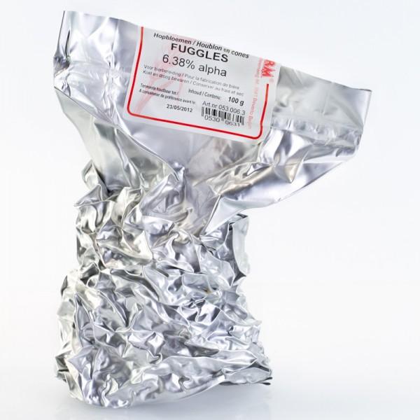 100g Fuggles Rohhopfen zum Bierbrauen, Alfasäurengehalt 5,54%