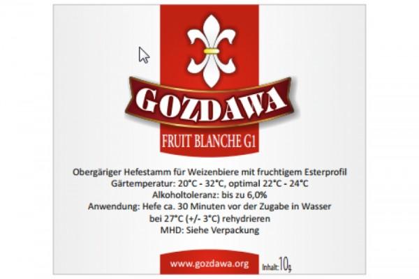 GOZDAWA Fruit Blanche G1 (FBG1) - obergärige Trockenhefe 10g