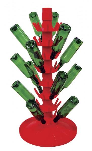 Rotierender Abtropfständer aus Kunststoff für 81 Flaschen