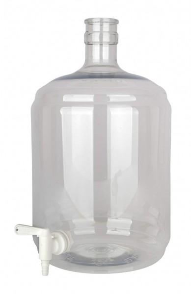 Gärflasche PET 12 Liter mit Hahn 5/16-7/16