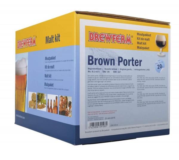 Fertige Malzmischung zum Brauen von 20Liter Brown Porter