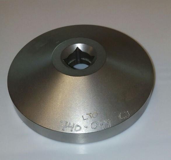 Ein-/Ausdrehplatte für Flachfitting bei KEG-FASS