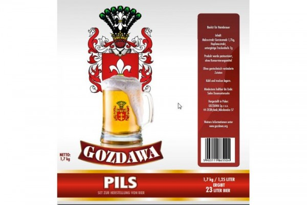 Bierkit GOZDAWA Pils - 1,7 kg zum Bierbrauen
