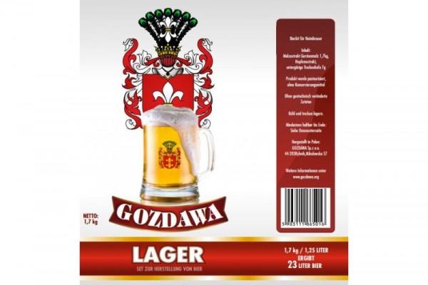 Bierkit GOZDAWA Lager - 1,7 kg zum Bierbrauen