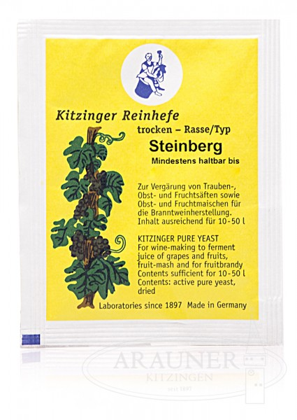 "TROCKENHEFE / Weinhefe 5 g ""Steinberg"" trocken"