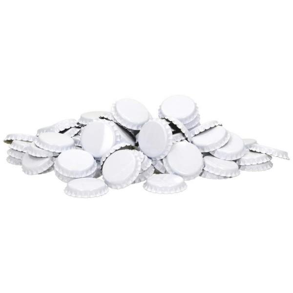 Kronenkorken 29 mm Weiß - geschäumte Einlage - 100 St. Kronkorken