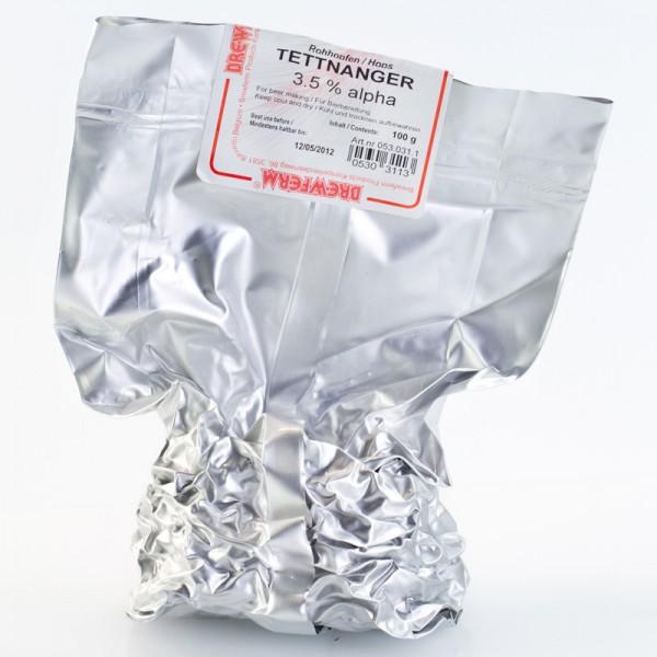 100g Tettnanger Rohhopfen zum Bierbrauen, Alfasäuregehalt 3,6%