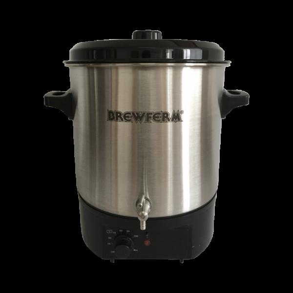 Brewferm elektrischer Braukessel 27 l Edelstahl zum Bierbrauen