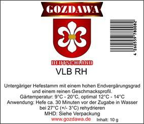 GOZDAWA VLB RH - untergärige Trockenhefe 10g