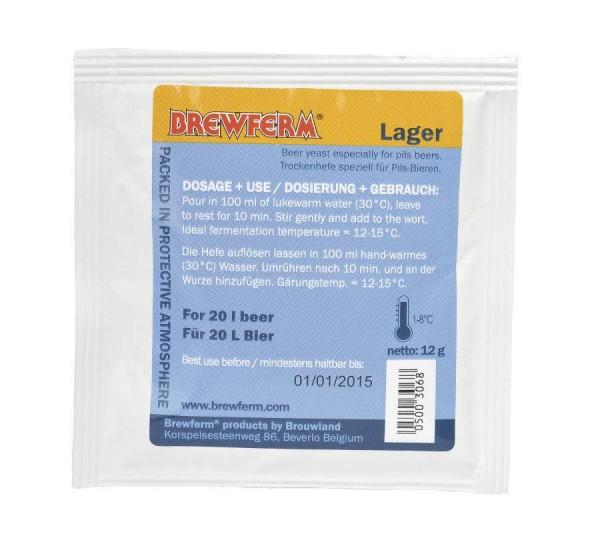 Brewferm Lager 12g untergärige Bierhefe speziell für Pils