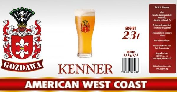 GOZDAWA American West Coast - 3,4 kg Bierkit zum Bier brauen bis 23 Liter