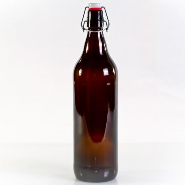 Bügelverschlussflasche 1 Liter braun