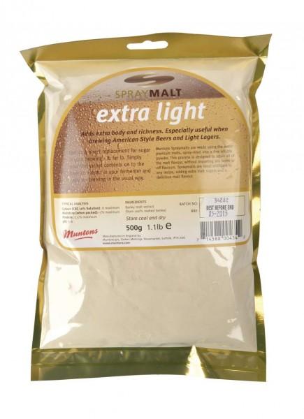 Malzextrakt Pulver Muntons extra hell 8 EBC 500 g Trockenmalz