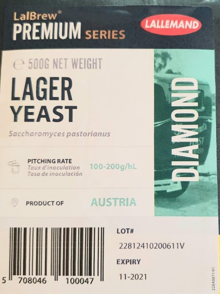 LALLEMAND trocken Bierhefe Diamond Lager, 500 g