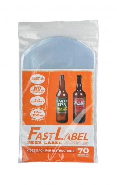 """70 """"FastLabel"""" Folien-Etikett für 0,33l Flaschen"""