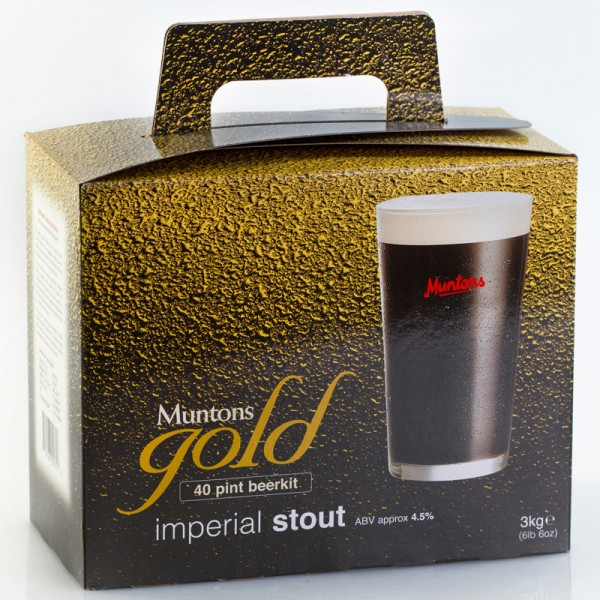 Muntons Gold Imperial Stout Bierkit - abgelaufenes MHD Hefe erneuert