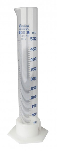 Messzylinder aus Glas graduiert Volumen 500 ml