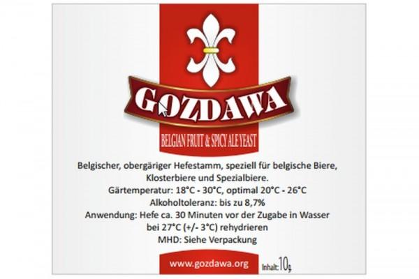GOZDAWA Belgian Fruit & Spicy Ale Yeast (BFSAY) - obergärige Trockenhefe 10g