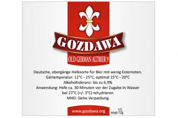 GOZDAWA Old German Altbier 9 (OGA9) - obergärige Trockenhefe 10g