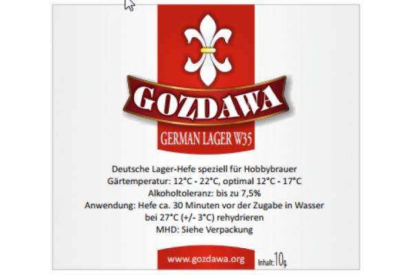 GOZDAWA German Lager W35 (GLW35) - untergärige Trockenhefe 10 g