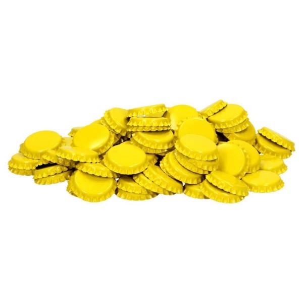 """100 Stück Kronkorken """"Gelb"""" *Neue Farbe* Kronenkorken"""
