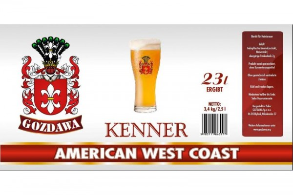 Bierkit GOZDAWA American West Coast - 3,4 kg