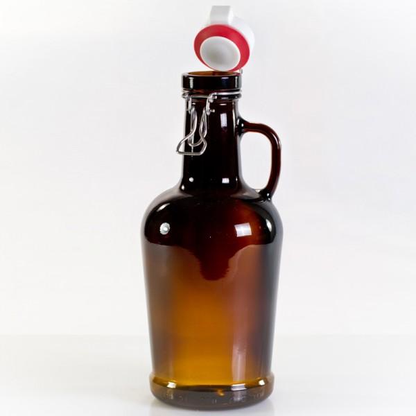 Henkelnestor Biersiphon 2 Liter braun mit Glasgriff