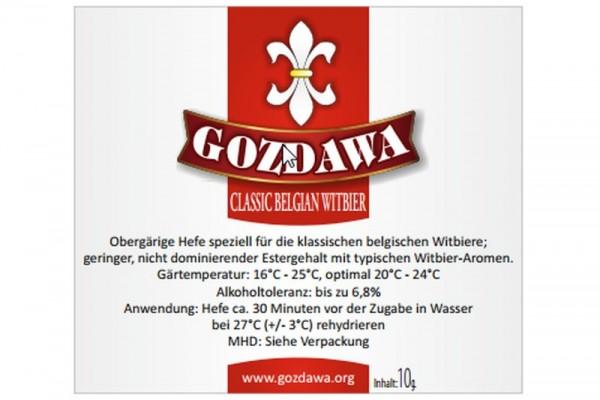 GOZDAWA Classic Belgian Witbier (CBW) - obergärige Trockenhefe 10g