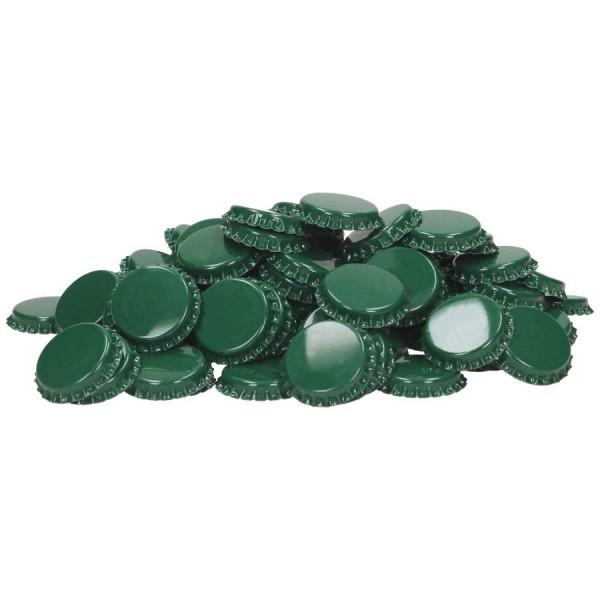 Kronenkorken 29 mm grün - geschäumte Einlage - 100 St. Kronkorken