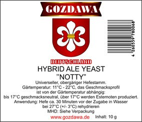 "GOZDAWA Hybrid Ale Yeast ""Notty"" - Obergäriger Trockenhefe 10g"
