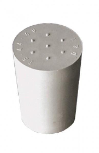 Gummistopfen grau D22/17 ohne Loch
