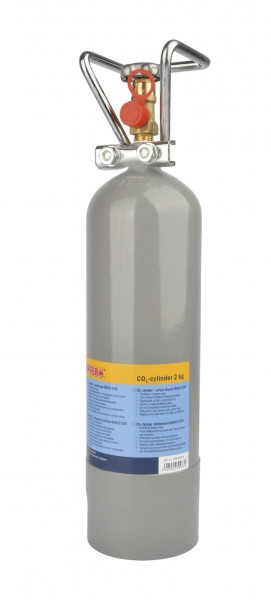 Gefüllter CO&#8322-Zylinder 2 kg - Kohlensäureflasche für Zapfsysteme