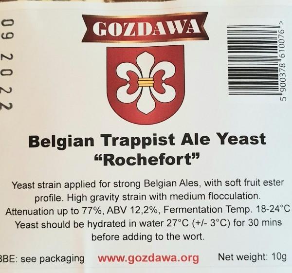 "GOZDAWA Belgian Trapist Ale Yeast "" Rochefort "" - obergärige Trockenhefe 10g"