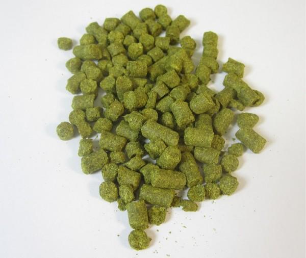 100g Hallertauer Perle Hopfenpellets zum Bierbrauen, Alfasäurengehalt 7,3%