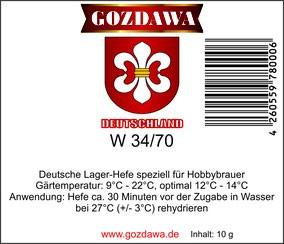 GOZDAWA W34/70 - Untergärige Trockenhefe 10g