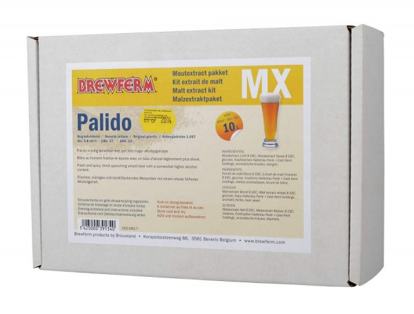 Malzextrakt Biermischung Palido für 10 Liter