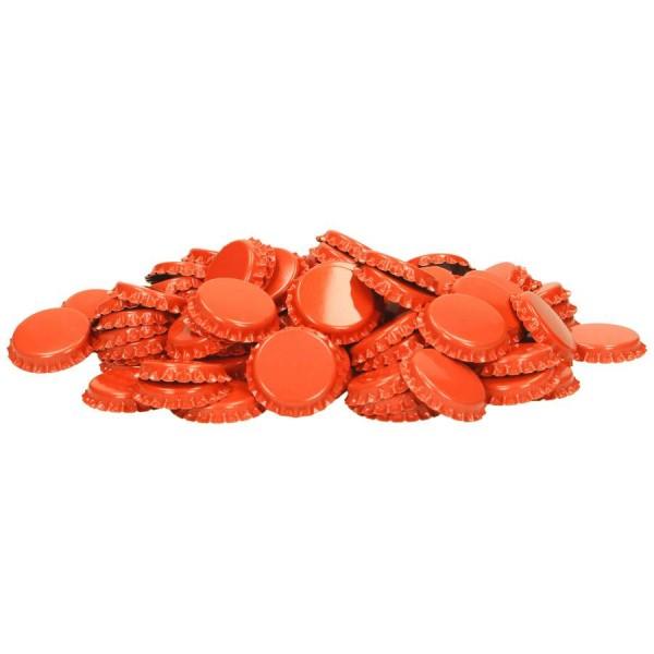 """100 Stück Kronkorken """"Orange"""" *Neue Farbe* 26mm Kronenkorken"""