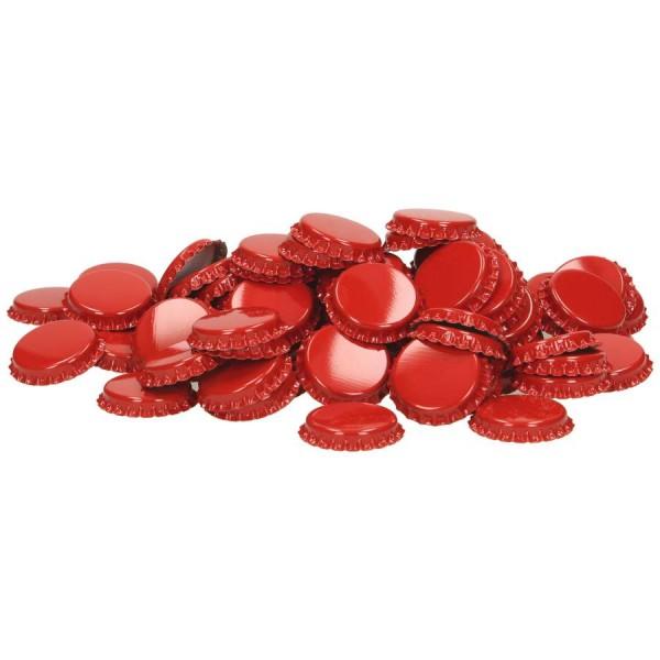 Kronenkorken 29 mm Rot - geschäumte Einlage - 100 St. Kronkorken