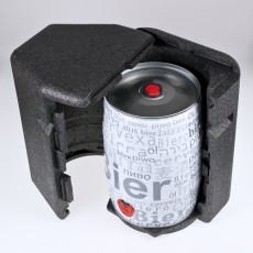 Passgenaue Isolierbox für ein 5 Liter Partyfass - Bierkühler ohne Strom