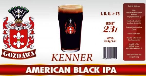GOZDAWA American Black IPA - 3,4 kg Bierkit zum Bier brauen bis 23 Liter