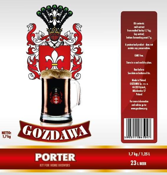 Bierkit GOZDAWA Porter - 1,7 kg zum Bierbrauen