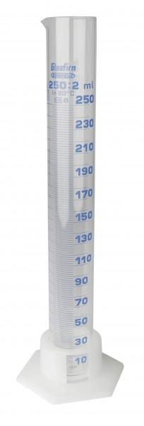 Messzylinder aus Glas graduiert Volumen 250 ml