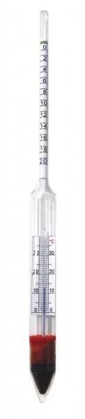 Bierwürzespindel hobby 0-20% Extrakt +Thermometer