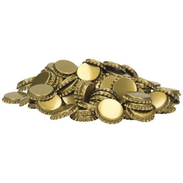 Kronenkorken 29 mm / 1.000 St. / gold - mit profilierter Einlage - Kronkorken