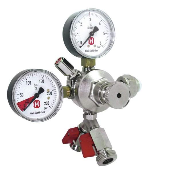 CO2-Druckregler bis 3 bar 2 Ausgänge (2 Manometer)