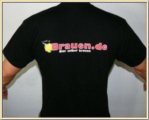 T-Shirt schwarz mit Logo Brauen.de