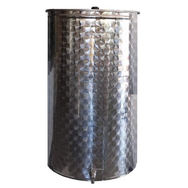 50 L Gärbehälter aus Edelstahl inkl. Deckel und Kugelhahn