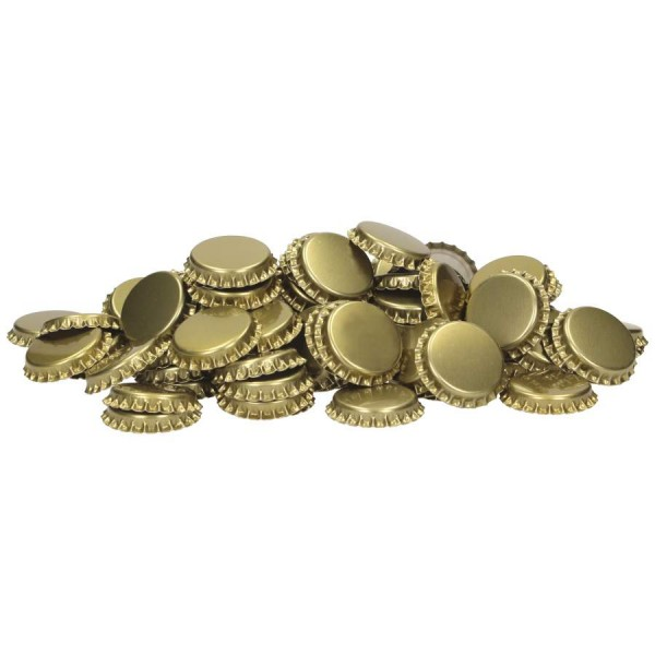 Kronenkorken 29 mm / 1.000 St. / gold - mit geschäumte Einlage - Kronkorken