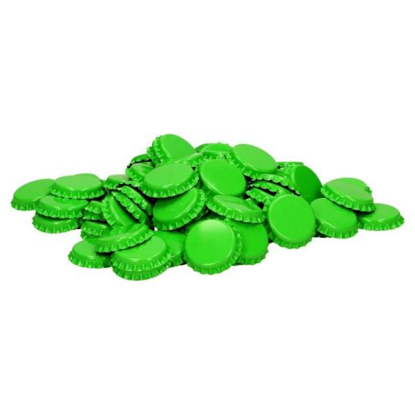 "100 Stück Kronkorken ""Limettegrün"" *Neue Farbe* Kronenkorken"